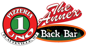 Pizzeria uno, the annex, and the back bar logo